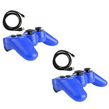 2x Blue Wireless Bluetooth Game Controller Pad For Sony PS3 Playstation 3