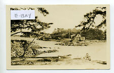 Onset MA Mass (Wareham) RPPC real photo Dummy Bridge, cottages, storm damage?