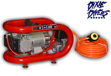 NARDI ESPRIT 3T ELECTRIC COMPRESSOR 50' HOSE HOOKAH SCUBA DIVING DIVE DREDGING