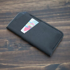 Genuine Leather for Apple iPhone 7, 6 & 6s sleeve case - BLACK - Made in USA