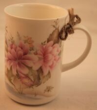St George Mug Cup Fine Bone China England Pink Purple Flowers Lake Water Rare