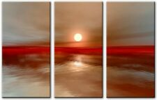 3 Panel Total Size 120x80cm Large ABSTRACT ART CANVAS  DIGITAL BURNING4 Brown
