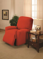 ORANGE CHAIR COVER-ALSO COMES IN  SOFA COUCH LOVESEAT RECLINER FUTON SLIPCOVERS