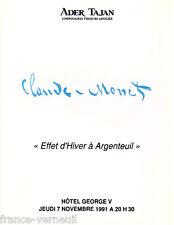 Catalogue Ader Tajan Claude Monet - Effet d'Hiver à Argenteuil - Impressionnisme