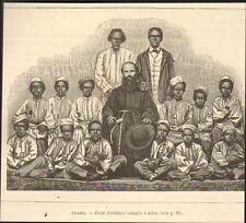 IMAGE 1881 PRINT GRAVURE YEMEN ADEN ENFANTS CHILDREN SOMALIS