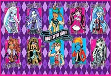 Monster High School Girls Birthday Party Edible Cake Topper 1/4 FROSTING sheet