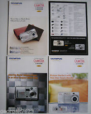 4 Olympus Camedia digital camera sales brochures - 2004