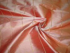 ~10 YARDS~100% SILK  PLAID~EMBROIDERED DRAPERY UPHOLSTERY FABRIC FOR LESS~