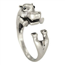 Vintage Hippo Animal Wrap Rings Love Gift for Women and Girls Fashion Jewelry