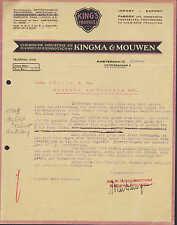 AMSTERDAM, Rechnung 1929, Kingma & Mouwen Chemische Industrie en Handelsvennoots