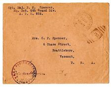 World War 2 A.P.O. 752 to Brattleboro Vermont Military Censorship Cover