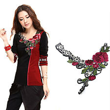 Embroidery Applique Lace Flower For Neckline Collar Trims Accessories