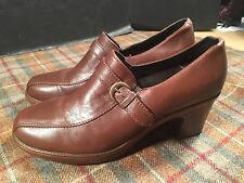 Dansko Ladies Sz 41 Brown Heels Rare Style Shoes 10.5 - 11 USA Nice Narrow
