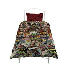 Marvel Comics Hero 'Avengers' Reversible Rotary Single Bed Duvet Quilt Cover Set