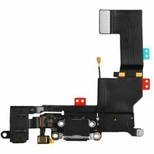 Black Headphone Audio Jack Charger Charging Port Dock Flex Cable For iPhone 5S