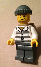 Lego 30227 City jail prisoner robber minifigure w/ backpack from Watercraft set
