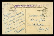 France Cols Maroc Oudjda Troupes D'Occupation Military PPC to Paris 1911