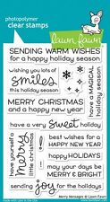 Lawn Fawn MERRY MESSAGES Photopolymer Clear Stamps LF1230 Christmas