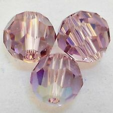 "144 10mm Swarovski Crystal ""LIGHT AMETHYST AB"" Round Faceted Beads Style 5000"