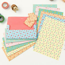 Cute Lovely Ardium Pattern Letter set -4sh writing stationery paper 2sh envelope