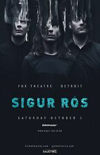SIGUR ROS 2016 DETROIT CONCERT TOUR POSTER - Experimental / Art Rock Music