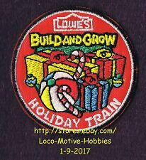 LMH PATCH Badge 2015 HOLIDAY TRAIN Christmas Presents LOWES Build Grow Candy Box