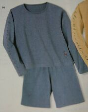 NWT Disney Store Womens Embroidered Pooh Long Sleeve Blue Short Set S