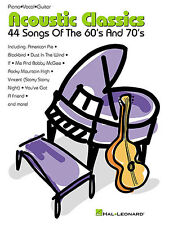 Acoustic Classics 60s & 70s SONGS Learn to Play PIANO Guitar PVG Music Book