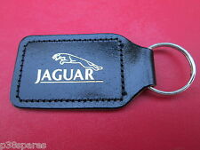 JAGUAR XJS X-TYPE S-TYPE, E-TYPE XF,XK,XJ,XJ6,XJ8 BLACK LEATHER KEY FOB RING