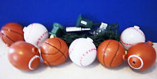 2 Football 3 Baseball n 3 Basketball covers on 10 light Party String lights