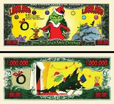 How The Grinch Stole Christmas Million Dollar Bill **Novelty Money** FREE Sleeve