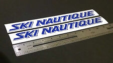 "Ski Nautique Boats (1985-1987) Blue Decal 12"" Stickers (Pair)"