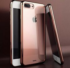 iPhone 7 PLUS Silicon Case Clear Back Rubber Bumper - BUY ONE GET ONE FREE!