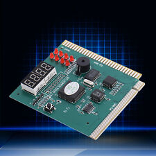 4-Digit Analyzer Diagnostic Motherboard POST Card Tester Computer PC PCI ISA New