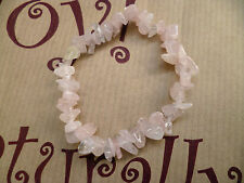 Rose Quartz Bracelet Pink Celestial & Horoscope Elastic Gemstone Hand Made Local