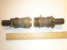 USED - MS3106A 24-10S (SR) W/B and MS3100A 24-10P (SR) W/B - 7 Pin Mating Pair
