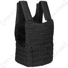 Armée noir tactique molle assault rembourré gilet AIRSOFT PAINTBALL COMBAT rig top