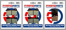 Moto-Guzzi V11 1100, Scura, Sport Scura 2002 Front & Rear Brake Pads (3 Pairs)