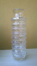 Vaso in cristallo 1960s 1970s Vintage design crystal glass vase