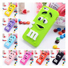 3D Rainbow Chocolate Bean TPU Gel Soft Case Cover For iPhone 6 6 Plus 5S 4S iPod