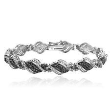 1/4 Ct Black & White Diamond Twist Bracelet