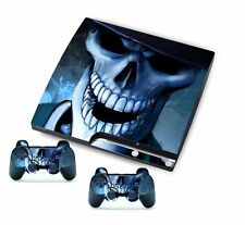 Skull for PlayStation 3 PS3 Slim Console Controller Custom Stickers Skins
