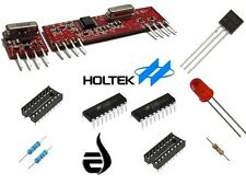 ASK RF Transmitter and Receiver + IC HT12D HT12E + Resistors + IC Bases + LED