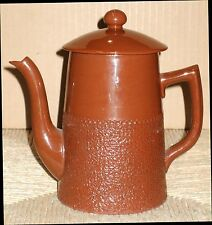 Gibson's Made In England Chocolate Brown Ceramic Teapot Tea Pot w/ Lid