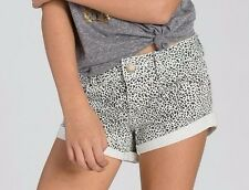 2015 NWT YOUTH GIRLS BILLABONG COOLSIDE DENIM SHORTS $45 10 cool whip speckled