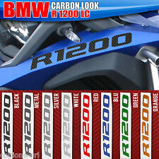 2 Adesivi Serbatoio Moto BMW R 1200 gs adventure 2015 Carbon Look 280 X 30 mm