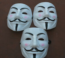 3 x V For Vendetta Guy Fawkes Masks Anonymous Halloween Bonfire **UK Supplier**