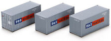Athearn HO Scale 20' Intermodal Shipping Containers Nedlloyd (3-Pack)