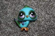Littlest Pet Shop Peacock #869 Shimmery Blue Green Clover Eyes LPS Toy RARE 2007