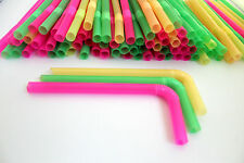 30PCS x 12MM THICK JUMBO MULTICOLOUR BUBBLE TEA STRAWS MILKSHAKE SMOOTHIE